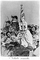 0163327 © Granger - Historical Picture ArchiveGOYA: INQUISITION.   'There was no remedy.' A heretic being led through a crowd during the Spanish Inquisition. Etching by Francisco Goya from his series, 'Los Caprichos,' 1799.