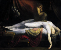 0018496 © Granger - Historical Picture ArchiveFUSELI: NIGHTMARE, 1781.   'The Nightmare.' Oil on canvas by Henry Fuseli, 1781.