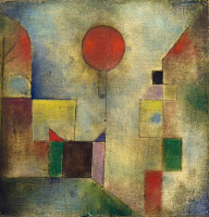 0023345 © Granger - Historical Picture ArchiveKLEE: RED BALLOON, 1922.   Oil on gauze and board by Paul Klee. EDITORIAL USE ONLY.