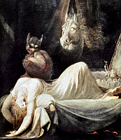 0042278 © Granger - Historical Picture ArchiveFUSELI: NIGHTMARE, 1781.   The Nightmare. Oil on canvas by Henry Fuseli, 1781.