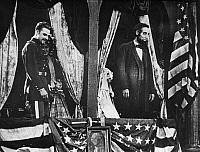 0322164 © Granger - Historical Picture ArchiveBIRTH OF A NATION, 1915.   President Abraham Lincoln (played by Joseph Henabery) at Ford's Theatre in a scene from D.W. Griffith's 'Birth of a Nation,' 1915.
