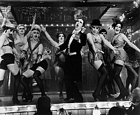 0120990 © Granger - Historical Picture ArchiveFILM: CABARET, 1972.   Joel Grey as the master of cermonies at the Kit Kat Klub in Berlin in the late 1920s. Scene from 'Cabaret' directed by Bob Fosse, 1972.