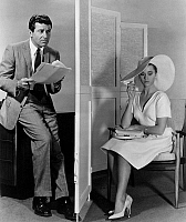 0088815 © Granger - Historical Picture ArchiveFILM: THE CHAPMAN REPORT.   Housewife Jane Fonda sits behind a screen as sex researcher Efrem Zimbalist, Jr., interviews her in a scene from the 1962 motion picture 'The Chapman Report,' a fictionalized version of the Kinsey survey.