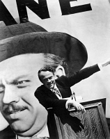 0120901 © Granger - Historical Picture ArchiveCITIZEN KANE. 1941.   Orson Welles as Charles Foster Kane in 'Citizen Kane,' 1941, which Welles also directed.