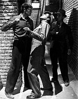 0046778 © Granger - Historical Picture ArchiveFILM: DEAD END, 1937.   Joel McCrea, Humphrey Bogart, and Alan Jenks in a scene from the 1937 motion picture 'Dead End.'