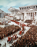 0016123 © Granger - Historical Picture ArchiveFALL OF THE ROMAN EMPIRE.   A scene in the Roman Forum from the 1964 film, 'The Fall of the Roman Empire.'