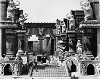 0122446 © Granger - Historical Picture ArchiveFILM SET: INTOLERANCE, 1916.   The enormous set for the Babylonian sequence in D.W. Griffith's silent film 'Intolerance,' 1916.