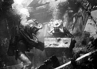 0088049 © Granger - Historical Picture ArchiveFILM: 20,000 LEAGUES, 1954.   Film still from Richard Fleischer's '20,000 Leagues Under the Sea,' 1954.