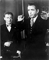 0014928 © Granger - Historical Picture ArchiveTHE MALTESE FALCON, 1941.   Peter Lorre and Humphrey Bogart in a scene from the film.