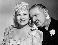 0049236 © Granger - Historical Picture ArchiveMY LITTLE CHICKADEE, 1940.   Film still with Mae West and W.C. Fields.