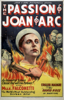 0527738 © Granger - Historical Picture ArchiveTHE PASSION OF JOAN OF ARC.   Poster for the film 'The Passion of Joan of Arc,' directed by Carl Theodor Dreyer and starring Renée Jeanne Falconetti. Lithograph, 1929.