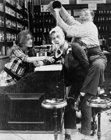 0073716 © Granger - Historical Picture ArchivePIE IN THE FACE.  Silent film still. Fatty Arbuckle.