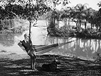 0095627 © Granger - Historical Picture ArchiveFILM STILL: HAMMOCK.   Actress Marie Prevost (1898-1937) in a scene from a silent film, 1920s.
