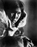 0122542 © Granger - Historical Picture ArchiveNANOOK OF THE NORTH, 1922.   Frame from Robert Flaherty's documentary of life among Inuits in Arctic Canada.