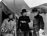 0623644 © Granger - Historical Picture ArchiveFILM: HEARTS OF THE WEST.   American silent film. Gentlemen talking in 'Hearts of the West' written by Arthur Henry Gooden. Film still, 1925.