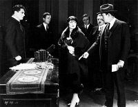 0623722 © Granger - Historical Picture ArchiveMIDNIGHT MOLLY, 1925.   American silent film. A scene of accusation starring Evelyn Brent as Margaret Warren from 'Midnight Molly' directed by Lloyd Ingraham. Film still, 1925.