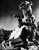 0016638 © Granger - Historical Picture ArchiveGODZILLA.   A scene from one of the 'Godzilla' movies.