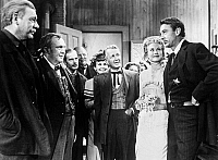 0042283 © Granger - Historical Picture ArchiveHIGH NOON, 1952.   Lon Chaney Jr, Thomas Mitchell, Harry Morgan, Otto Kruger, Grace Kelly and Gary Cooper.
