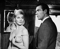 0057178 © Granger - Historical Picture ArchiveFROM RUSSIA WITH LOVE.   Sean Connery as James Bond with Daniela Bianchi in a scene from the film, 1963.