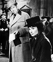 0057223 © Granger - Historical Picture ArchiveMY FAIR LADY, 1964.   Starring Rex Harrison as Professor Henry Higgins and Audrey Hepburn as Eliza Doolittle.