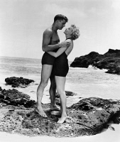 0116884 © Granger - Historical Picture ArchiveFROM HERE TO ETERNITY, 1953.   Burt Lancaster and Deborah Kerr in a scene from the film version of James Jones' novel 'From Here to Eternity,' directed by Fred Zinnemann, 1953.