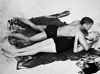 0116885 © Granger - Historical Picture ArchiveFROM HERE TO ETERNITY, 1953.   Burt Lancaster and Deborah Kerr in a scene from the film version of James Jones' novel 'From Here to Eternity,' directed by Fred Zinnemann, 1953.
