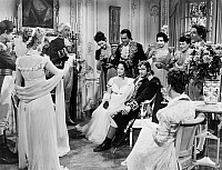 0121707 © Granger - Historical Picture ArchiveFILM: DESIREE, 1954.   Marlon Brando as Emperor Napoleon I and Merle Oberon as Empress Josephine being toasted in a scene from 'Desiree' directed by Henry Koster, 1954.
