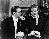 0122172 © Granger - Historical Picture ArchiveFILM: MORNING GLORY, 1933.  Katharine Hepburn and Douglas Fairbanks Jr. in 'Morning Glory' directed by Lowell Sherman, 1933.