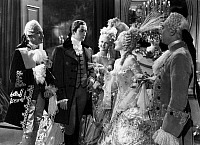 0122519 © Granger - Historical Picture ArchiveFILM: MARIE ANTOINETTE.   Marie Antoinette (Moira Shearer) greats Count Axel de Fersen (Tyrone Power) in a scene from the 1938 film, directed by W.S. Van Dyke.