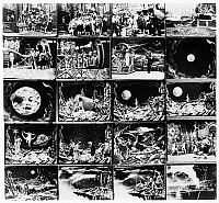 0122574 © Granger - Historical Picture ArchiveMELIES: TRIP TO THE MOON.   Frames from George Méliès'  1902 film 'A Trip to the Moon,' based loosely on books by Jules Verne and H.G. Wells.