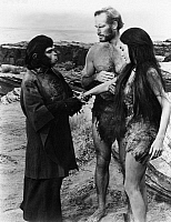 0184418 © Granger - Historical Picture ArchivePLANET OF THE APES, 1968.   Charleton Heston and Linda Harrison in a scene from the film, 'Planet of the Apes,' directed by Franklin J. Schaffner, 1968.