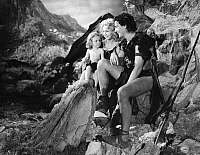 0267529 © Granger - Historical Picture ArchiveONE MILLION B.C., 1940.   Mary Gale Fisher, Carole Landis and Victor Mature in the film 'One Million B.C.,' directed by Hal Roach, 1940.