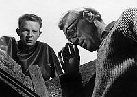 0267586 © Granger - Historical Picture ArchiveTHROUGH A GLASS DARKLY.   Lars Passgård and Max Von Sydow in a scene from 'Through a Glass Darkly,' directed by Ingmar Bergman, 1961.