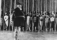 0560410 © Granger - Historical Picture ArchiveFILM: CHIMES AT MIDNIGHT.   Orson Welles as Falstaff in 'Chimes at Midnight.' Photograph, 1966.