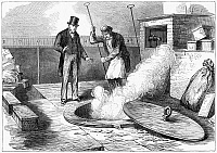0268376 © Granger - Historical Picture ArchiveBANK OF ENGLAND, 1872.   The burning of banknotes taken out of circulation, at the Bank of England in London. Engraving, English, 1872.