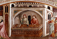 0023700 © Granger - Historical Picture ArchiveFLORENTINE COUNTING HOUSE.   Fresco, c. 1400, by Niccolo Gerini.