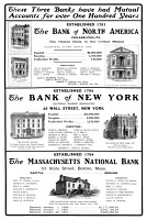 0370655 © Granger - Historical Picture ArchiveMUTUAL FUNDS, 1901.   American magazine advertisement for mutual accounts at three different banks, 1901.