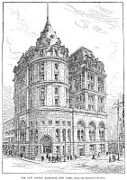 0064843 © Granger - Historical Picture ArchiveCOTTON EXCHANGE, 1884.   The New York Cotton Exchange in Hanover Square, New York. Wood engraving, 1884.