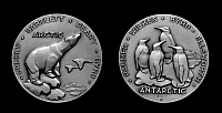 0172676 © Granger - Historical Picture ArchiveEXPLORER MEDAL, 1941.   Medal featuring the names of Arctic and Antarctic explorers, sculpted by Erwin Springweiler for the Society of Medalists, 1941.