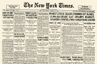 0016884 © Granger - Historical Picture ArchiveWALL STREET CRASH, 1929.   Front page of the New York Times, 25 October 1929, reporting on the Wall Street Crash.