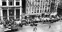 0124750 © Granger - Historical Picture ArchiveNEW YORK: BANK RUN, 1930.   Customers lined up, 11 December 1930, in front of a branch of The Bank of United States, a New York bank closed by its directors, after a run on the bank the previous day.