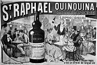 0117995 © Granger - Historical Picture ArchiveST. RAPHAEL QUINQUINA.   French lithograph poster by José Belon, 1891, contrasting this 'hygenic' and life-prolonging aperitif with bitters and absinthe.