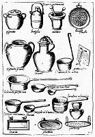 0117984 © Granger - Historical Picture ArchiveCOOKING UTENSILS, 1643.   Line engraving, Venice, 1643.
