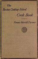 0408690 © Granger - Historical Picture ArchiveBOSTON COOKBOOK, 1896.   'The Boston Cooking-School Cookbook' by Fannie Merritt Farmer, 1912 edition, originally published 1896.