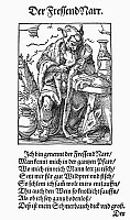0098621 © Granger - Historical Picture ArchiveGLUTTON, 1568.   The gluttonous fool. Woodcut, 1568, by Jost Amman.