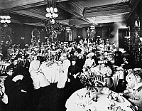 0101515 © Granger - Historical Picture ArchiveDELMONICO'S RESTAURANT.   Ladies' luncheon at Delmonico's Restaurant, New York City. Photographed by Joseph Byron, 1902.