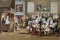 0116590 © Granger - Historical Picture ArchiveENGLAND: COFFEE HOUSE.   Painting by an unidentified artist, c1705.