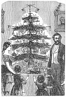 0003753 © Granger - Historical Picture ArchiveCHRISTMAS TREE, 1864.   Wood engraving, American, 1864.
