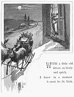 0037791 © Granger - Historical Picture ArchiveNIGHT BEFORE CHRISTMAS.   'With a little old driver so lively and quick, I knew in a moment it must be St. Nick.' Illustration from an 1883 edition of Clement Clarke Moore's 'The Night Before Christmas.'