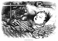 0266565 © Granger - Historical Picture ArchiveNAST: CHRISTMAS, 1880.   'Another Stocking to Fill.' Wood engraving by Thomas Nast, 1880.